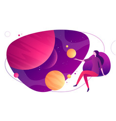 colorful on topic space vector image