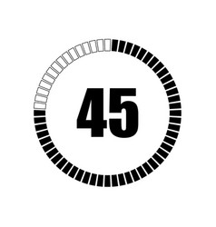 countdown digital timer vector image