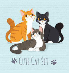 cute kitty cat vector image