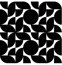 decorative black ornament geometric background vector image