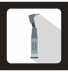 Dental drill icon in flat style vector image