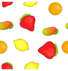 Farm fruits pattern cartoon style vector