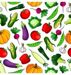 Farm vegetables seamless pattern background vector