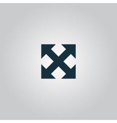 four sides arrow vector image