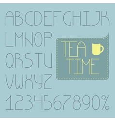 Full infographic thin alphabet vector