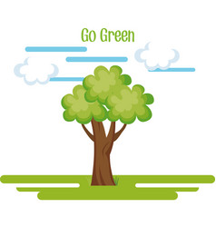 go green tree plant vector image
