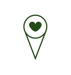 Gps heart icon vector