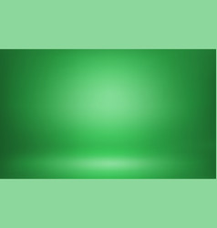 Green studio backdrop 3d room lightbox background vector