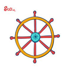 handwheel or steering wheel symbol of a cruise vector image
