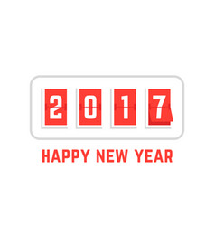 Happy new year with 2017 scoreboard vector