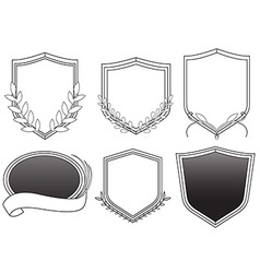 Hip Badges vector image