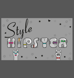 hipster style vintage card vector image