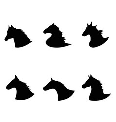 horse head silhouette icon vector image