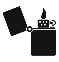 Kerosene lighter icon simple style vector