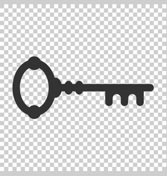 Key icon in flat style access login on isolated vector