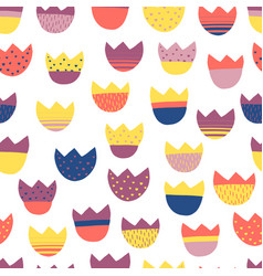 kids abstract floral seamless pattern vector image