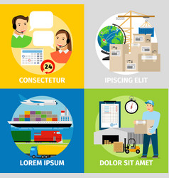 logistics concepts worldwide logistic network vector image