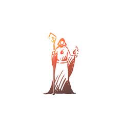 magician wizard healer psychic vector image