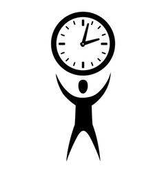 Man with clock vector