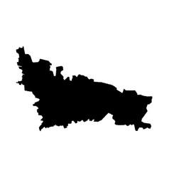 Map nicosia isolated black vector