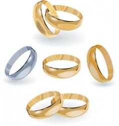 metal rings vector image