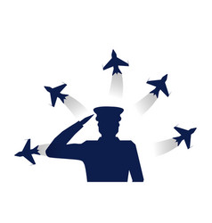military office shape and airplane vector image