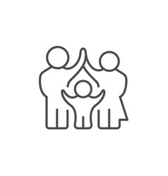 parents and child line outline icon vector image