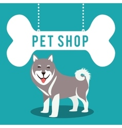 Pet shop center icon vector