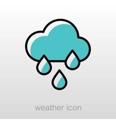 Rain Cloud Rainfall icon Meteorology Weather vector image