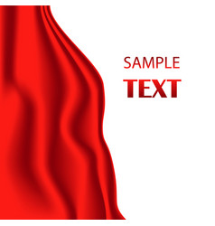 red silk fabric with red vector image