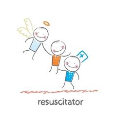 resuscitator keeps patients picking up Angel vector image