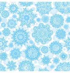 seamless deep snowflakes eps 8 vector image