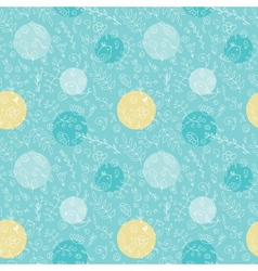 Seamless pattern from leaves and dots vector image