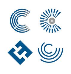 set letter c vector image