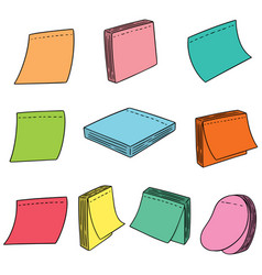 Set of memo note vector