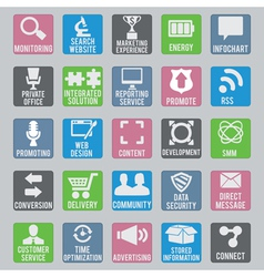 Set of seo icons - part 2 vector image