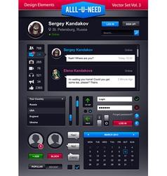 Set user interface elements vector