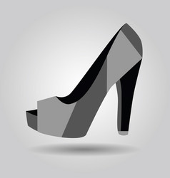 single women peep toe high heel pattern shoe icon vector image