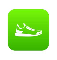 sneaker icon digital green vector image