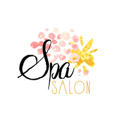 spa salon or center original delicate logo design vector image