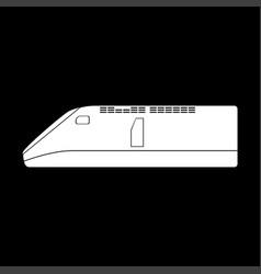 speed train icon vector image
