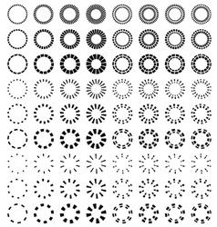 starbursts black symbols vector image