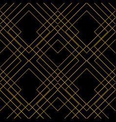 tile pattern golden ornament on black background vector image