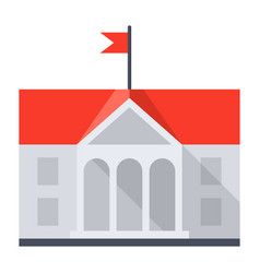 University building icon vector