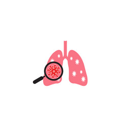 Virus and bacteria-infected human lungs lung vector