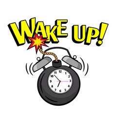 wakeup bomb clock vector image