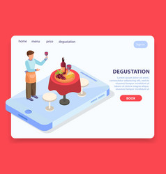 Wine production page design vector