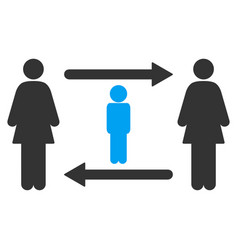 Women guy exchange icon vector