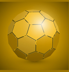 abstract soccer 3d ball yellow vector image