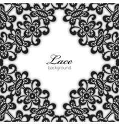 Black lace vector image